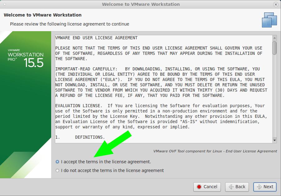 instalar VMware en Fedora 31