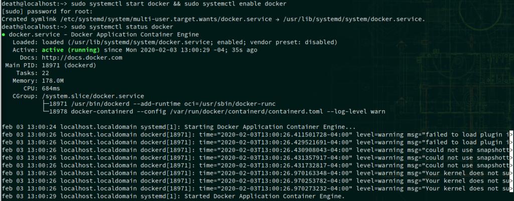 systemctl status docker