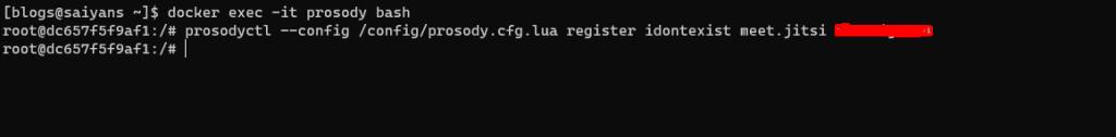 Creación de usuarios  para jitsi
